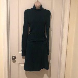 Teal ribbed long sleeves sweater dress ATHLETA XS
